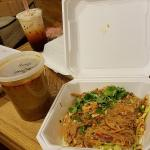 Takeout — Jelly Noodle Salad (Yum Woo Sen), bubble tea and Thai iced tea