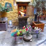Beautiful shrine which they carefully tended to daily with fresh flowers, lovely area to sit by