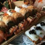 Delicious maki, sushi and sashimi