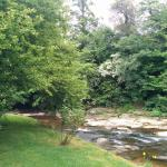 River runs along back of property