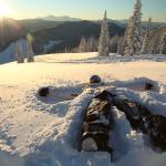 Incredible views of the Hozameen Mountains while skiing or snowboarding