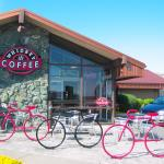 Patio and bike racks at Whidbey Coffee