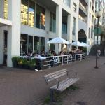 A great patio right on the harbor, with a tasty menu to boot.