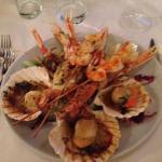 grill di crostacei e frutti di mare