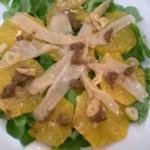 Ensalada de Bacalao con naranja y paté de olivas negras