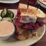 Reuben with dried out meat and soggy bread