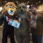 QB Lion with Grubbs Grizzly along with Joe Bear at Califur 2016 @ Sheraton Fairplex Resort