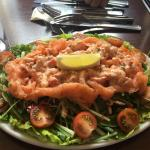 Great platter and very filling salmon salad