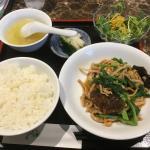 肉と青菜のXO醬炒めランチ