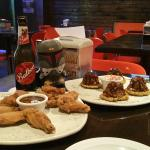 Wings, 'sliders' and cold beers!