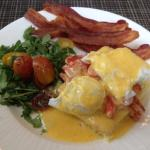 Their Eggs Benedict twist, Maine Lobster. Perfectly done.