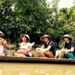 With guests on Mekong Delta
