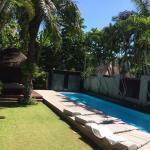 The glorious 'backyard' of Villa 8