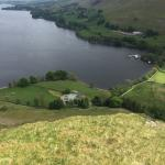 Waternook from Hallin fell and the view of Ullswater from the side of Waternook