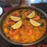 Amazing Paella Mixta, never been to a restaurant where the food was so authentic