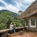 Main building terrace, Bwindi Lodge, closest lodge to start of gorilla tracking, Buhoma, Uganda