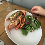 Half of fresh Cornish Lobster