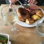 Delicious roast beef and Yorkshire pudding!