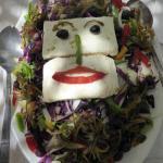 a smiling salad