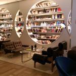 One of many lobby lounge area