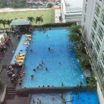 Spacious, clean and tidy. Pool very crowded