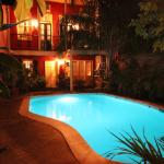 Pool Courtyard at Night