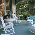Lovely front porch for rocking & drinking coffee or wine