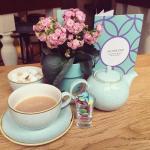 Yummy tea with chocolate candies!