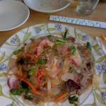 Jahp Chae (grilled vermicelli noodles) - missing beef and fish cakes