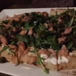 The newly added Smoked Salmon Flat bread with Creme Fraiche and Fried Capers is awesome!