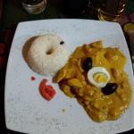 Peruvian Chicken in Creamy Walnut Sauce with Chili (Ají de Gallina)
