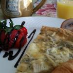 Great quiche breakfast