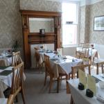 Breakfast room, immaculate with allocated tables for all rooms