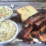 St Louis Spare ribs & burnt ends brisket with sides