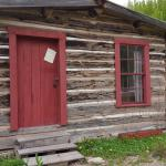The log cabin on the property