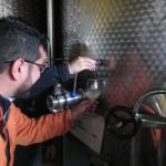 Got to try some fresh wine still early in the fermentation