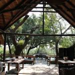 Open air dining veranda