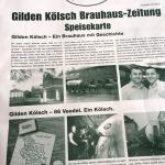 Gilden Kölsch Brauhaus Zeitung