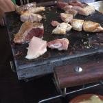 Pierrade au 3 viandes : bœuf, poulet et canard