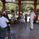 Китайские пенсионеры музицируют в парке