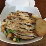 Grilled chicken ceaser salad