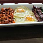 Paleo Breakfast Plate with the best bacon you've ever had in your life!!