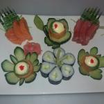 Of the freshest sushi made by local trained satff.