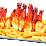 Three types of prawns to choose from