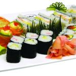 Mix of sushi platters to taste