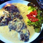Paillarda-entre-cote grillé sauce archiduc-tagliatelles