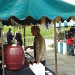 Penelope Kieth @ the cider stall