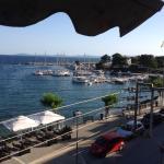 Die Aussicht von unserem Balkon über den Hafen von Neos Marmaras