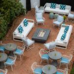 Private courtyard at The Christopher, a boutique Edgartown hotel.