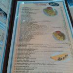 Extensive omelette menu